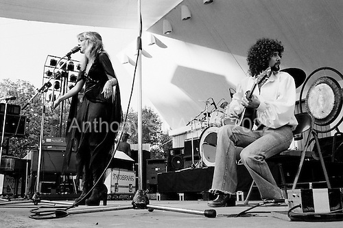 Peoria, Illinois<br /> USA<br /> June 26, 1976<br /> <br /> Fleetwood Mac performs at an outdoor concert shortly after the album &quot;Fleetwood Mac&quot; is released.<br /> <br /> The group members comprised of new members Stevie Nicks, and Lindsey Buckingham alongside keyboardist and vocalist Christine McVie, John McVie, bass and drummer Mic Fleetwood.
