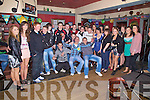 Kevin Moran from Renard seated front centre celebrated his 18th birthday with family and friends in The Fertha Bar Cahersiveen on Saturday night.