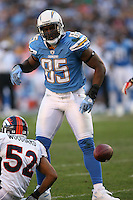 11/27/11 San Diego, CA: San Diego Chargers tight end Antonio Gates #85 during an NFL game played between the Denver Broncos and the San Diego Chargers at Qualcomm Stadium. The Broncos defeated the Chargers 16-13 in OT