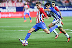 Atletico de Madrid's Fernando Torres and Manu during the match of La Liga Santander between Atletico de Madrid and Deportivo Alaves at Vicente Calderon Stadium. August 21, 2016. (ALTERPHOTOS/Rodrigo Jimenez)