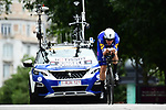 Bob Jungels (LUX) Quick-Step Floors in action during the opening Prologue of the 2018 Criterium du Dauphine running 6.6km around Valence, France. 3rd June 2018.<br /> Picture: ASO/Alex Broadway | Cyclefile<br /> <br /> <br /> All photos usage must carry mandatory copyright credit (&copy; Cyclefile | ASO/Alex Broadway)