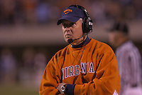 12 November 2005: Virginia coach Al Groh..The Virginia Cavaliers defeated the Georgia Tech Yellow Jackets 27-17 at Scott Stadium in Charlottesville, VA.