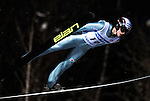 PIOTR ZYLA of Poland  soars through the air during the FIS World Cup Ski Jumping in Sapporo, northern Japan in February, 2008.