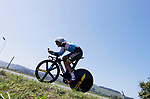 AG2R La Mondiale rider in action during Stage 16 of the La Vuelta 2018, an individual time trial running 32km from Santillana del Mar to Torrelavega, Spain. 11th September 2018.                                                                              Picture: Unipublic/Photogomezsport | Cyclefile<br /> <br /> <br /> All photos usage must carry mandatory copyright credit (&copy; Cyclefile | Unipublic/Photogomezsport)