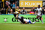 London Wasps' Christian Wade is awarded a penalty try - Rugby Union - 2014 / 2015 Aviva Premiership - Wasps vs. Bath - Adams Park Stadium - London - 11/10/2014 - Pic Charlie Forgham-Bailey/Sportimage