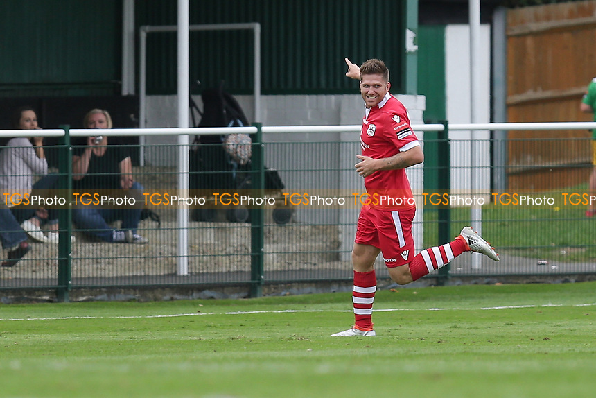 John Sands of Needham Market celebrates scoring the equalizer in the second half during Leatherhead vs Needham Market, Ryman League Premier Division Football at Fetcham Grove on 24th September 2016