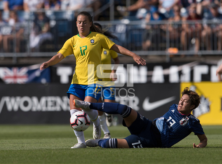 East Hartford, CT - July 29, 2018: Brazil defeated Japan 2-1 during the Tournament of Nations at Pratt & Whitney Stadium.