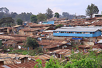 Kibera, Nairobi, second largest slum in Africa. 800.000 to 1.000.000 people live here