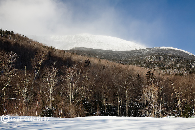 Snow-covered Mount Washington in the White Mountain National Forest, NH