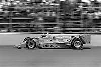INDIANAPOLIS, IN - MAY 31: Rick Mears drives his March 86C 22/Cosworth during the Indianapolis 500 USAC Indy Car race at the Indianapolis Motor Speedway in Indianapolis, Indiana, on May 31, 1986.