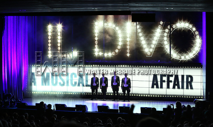 IL DIVO  performing 'IL DIVO - A Musical Affair' on Broadway at the Marquis Theatre on November 7, 2013  in New York City.