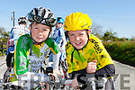 Tiarnach and Aona O'Shea Killorglin CC who cycled in the Johnny Drumm cycle race in Currow on Sunday