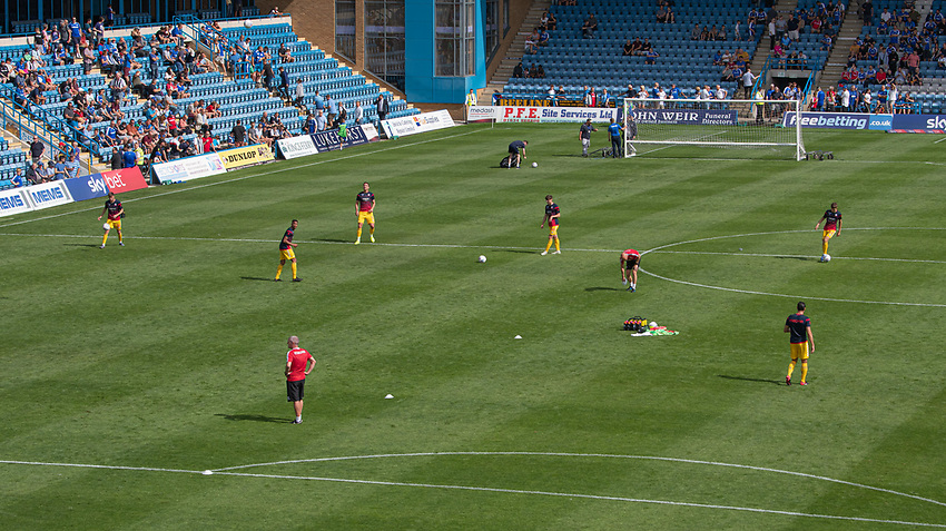 Bolton players doing the pre - match warm-up<br /> <br /> Photographer David Horton/CameraSport<br /> <br /> The EFL Sky Bet League One - Gillingham v Bolton Wanderers - Saturday 31st August 2019 - Priestfield Stadium - Gillingham<br /> <br /> World Copyright © 2019 CameraSport. All rights reserved. 43 Linden Ave. Countesthorpe. Leicester. England. LE8 5PG - Tel: +44 (0) 116 277 4147 - admin@camerasport.com - www.camerasport.com
