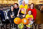 The staff at TK Maxx holding a sponsored cycle in-store in aid of Enable Ireland on Saturday. <br /> On the bike is store manager Pat O'Loughlin with Norma Fitzgerald, Janice Cronin, Naidine Leahy and Mary Sheehan
