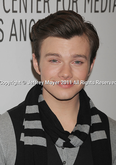 """BEVERLY HILLS, CA - MARCH 16: Chris Colfer arrives at the """"Glee"""" Paleyfest night at The Paley Center for Media at the Saban Theatre on March 16, 2011 in Beverly Hills, California."""