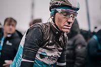 Romain Bardet's (FRA/AG2R-LaMondiale) post-race face<br /> <br /> 73rd Dwars Door Vlaanderen 2018 (1.UWT)<br /> Roeselare - Waregem (BEL): 180km