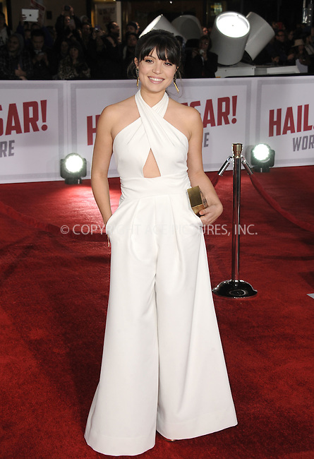 WWW.ACEPIXS.COM<br /> <br /> February 1 2016, LA<br /> <br /> Veronica Osorio arriving at the premiere of 'Hail, Caesar!' at the Regency Village Theatre on February 1, 2016 in Westwood, California. <br /> <br /> By Line: Peter West/ACE Pictures<br /> <br /> <br /> ACE Pictures, Inc.<br /> tel: 646 769 0430<br /> Email: info@acepixs.com<br /> www.acepixs.com