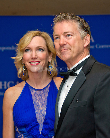 United States Senator Rand Paul (Republican of Kentucky), right, and Kelley Paul arrive for the 2016 White House Correspondents Association Annual Dinner at the Washington Hilton Hotel on Saturday, April 30, 2016.<br /> Credit: Ron Sachs / CNP<br /> (RESTRICTION: NO New York or New Jersey Newspapers or newspapers within a 75 mile radius of New York City)/MediaPunch
