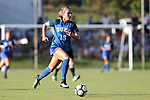 CARY, NC - AUGUST 18: Duke's Schuyler DeBree. The University of North Carolina Tar Heels hosted the Duke University Blue Devils on August 18, 2017, at Koka Booth Stadium in Cary, NC in a Division I college soccer game.