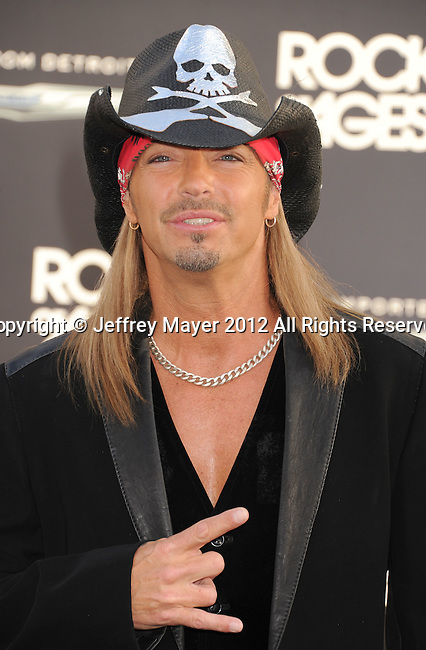 HOLLYWOOD, CA - JUNE 08: Bret Michaels arrives at the 'Rock Of Ages' - Los Angeles Premiere at Grauman's Chinese Theatre on June 8, 2012 in Hollywood, California.