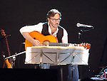 Al Dimeola & World Sinfonia on tour in 2010 in New Jersey at the Count Basie Theater. Close up of DiMeola.
