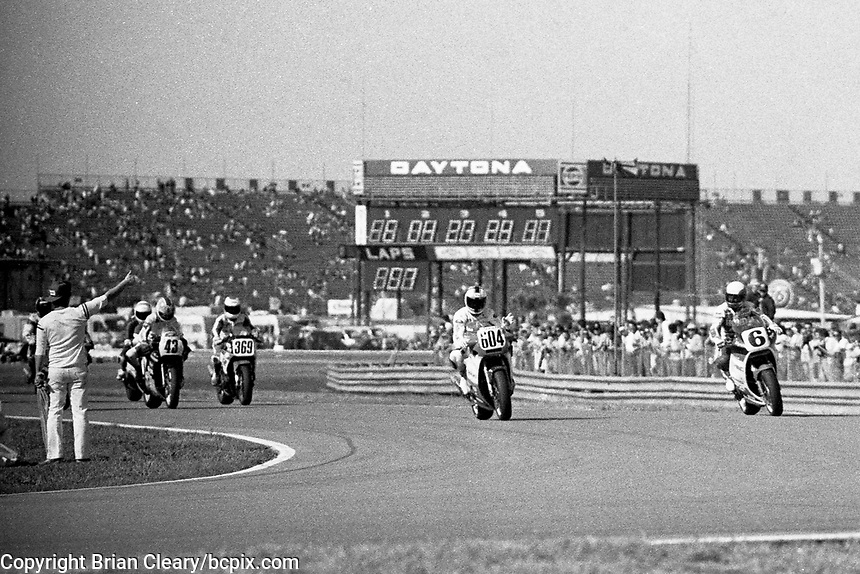#6 Honda, Wayne Rainey, Daytona 200, Daytona International Speedway, March 8, 1987.  (Photo by Brian Cleary/bcpix.com)