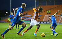 Blackpool's Dolly Menga goes past Portsmouth's Danny Rose<br /> <br /> Photographer Alex Dodd/CameraSport<br /> <br /> The EFL Sky Bet League One - Blackpool v Portsmouth - Saturday 11th November 2017 - Bloomfield Road - Blackpool<br /> <br /> World Copyright &copy; 2017 CameraSport. All rights reserved. 43 Linden Ave. Countesthorpe. Leicester. England. LE8 5PG - Tel: +44 (0) 116 277 4147 - admin@camerasport.com - www.camerasport.com