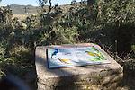 Information board about endemic birds at Horton Plains national park, Sri Lanka, Asia