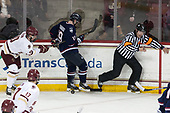 Christopher Brown (BC - 10), Evan Richardson (UConn - 19), Tim Benedetto - The Boston College Eagles defeated the visiting UConn Huskies 2-1 on Tuesday, January 24, 2017, at Kelley Rink in Conte Forum in Chestnut Hill, Massachusetts.