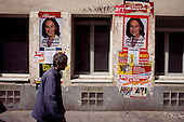 Paris, France.May 6, 2007..Posters of the two final French presidential candidates around the city...