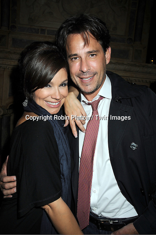 "Gretta Monahan and Ricky Paull Goldin at Susan Lucci's  book signing for her new book ""All My Life""  at The Friars Club in New York City on September 7, 2011."