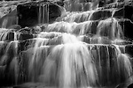 Close up detail of Bond Falls on the Ontonagon River near Paulding in the UP of Michigan