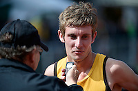 Marcus Karamanolis in action during the Athletics - NZ Track and Field Championships at Newtown Park, Newtown, New Zealand on Friday 6 March 2015. <br /> Photo by Masanori Udagawa. <br /> www.photowellington.photoshelter.com.