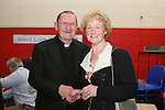 Fr. Martin Kenny with Peg Byrne at his retirement party in Mell NS...Photo NEWSFILE/Jenny Matthews.(Photo credit should read Jenny Matthews/NEWSFILE)....This Picture has been sent you under the condtions enclosed by:.Newsfile Ltd..The Studio,.Millmount Abbey,.Drogheda,.Co Meath..Ireland..Tel: +353(0)41-9871240.Fax: +353(0)41-9871260.GSM: +353(0)86-2500958.email: pictures@newsfile.ie.www.newsfile.ie.FTP: 193.120.102.198.