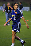 18 June 2003: Julie Foudy of the San Diego Spirit. The WUSA All-Star Skills Competition was held at SAS Stadium in Cary, NC.