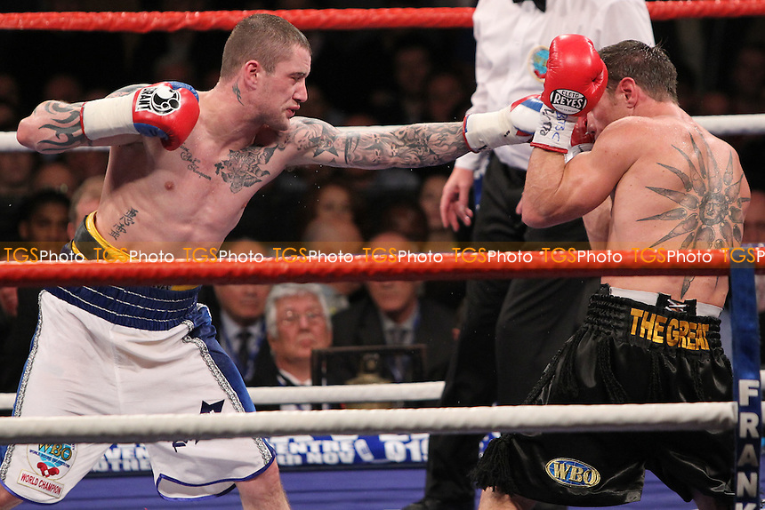 Michael Katsidis fights Ricky Burns in a boxing contest at Wembley Arena, promoted by Frank Warren -  05-11-11- MANDATORY CREDIT: Chris Royle/TGSPHOTO - Self billing applies where appropriate - 0845 094 6026 - contact@tgsphoto.co.uk - NO UNPAID USE..