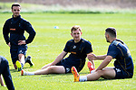 St Johnstone Training&hellip;24.08.18<br />Liam Craig pictured with Stefan Scougal and Tony Watt during training this morning at McDiarmid Park ahead of tomorrow&rsquo;s game against Dundee<br />Picture by Graeme Hart.<br />Copyright Perthshire Picture Agency<br />Tel: 01738 623350  Mobile: 07990 594431