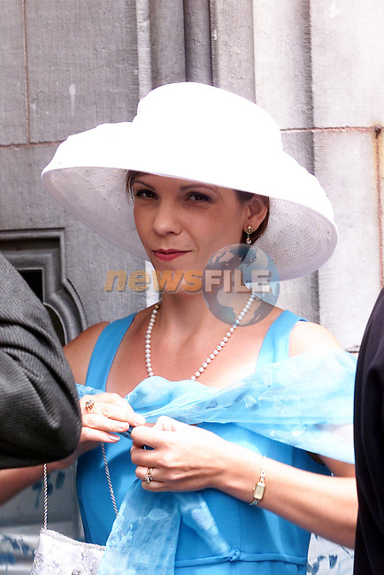 Angie Phillips, Newsline at Alison Conyn's wedding..pic: Arthur Carron /Newsfile