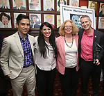 Matthew Lopez, Rachel Chavkin, Victoria Bailey and Tom Kirdahy during the Robert Whitehead Award Ceremony honoring Tom Kirdahy at Sardi's on 5/22/2019 in New York City.