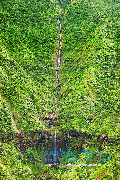 Manoa Falls, Ha`ena, Kauai, Hawaii, Pacific Ocean