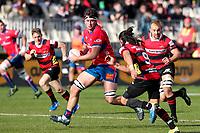 Quinten Strange of Tasman Mako during the Mitre 10 Cup rugby match between Canterbury and Tasman Makos at Orangetheory Stadium in Christchurch, New Zealand on Friday, 5 July 2019. Photo: Martin Hunter / lintottphoto.co.nz