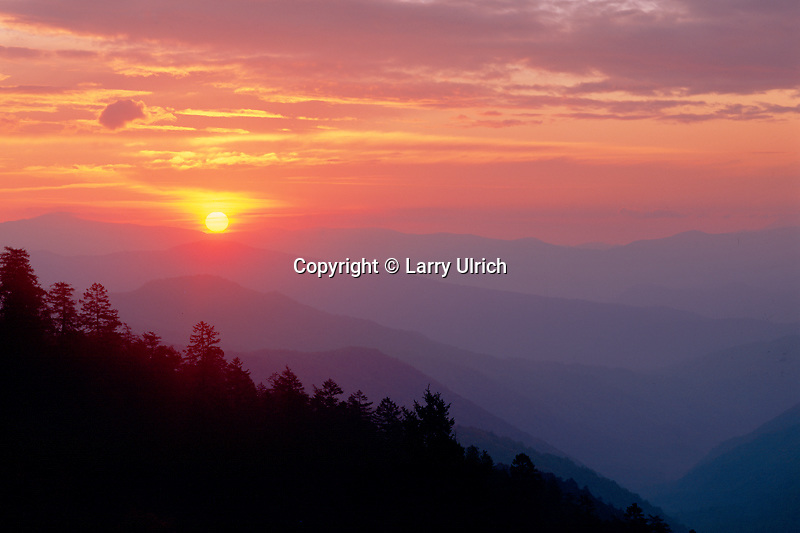 Sunrise from Newfoundland Gap<br />