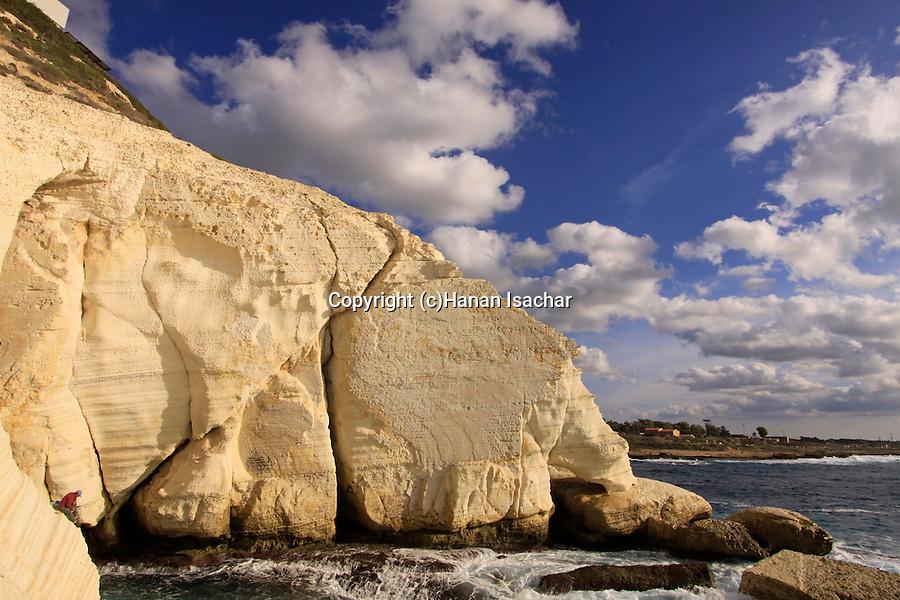 Israel, Rosh Hanikra in the Galilee Coastal Plain