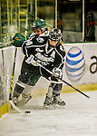 13 November 2015: Providence College Friar Defender Lauren Klein, a Junior from Shoreview, MN, in action against the University of Vermont Catamounts at Gutterson Fieldhouse in Burlington, Vermont. The Lady Friars defeated the Lady Cats 4-1 in Hockey East play. Mandatory Credit: Ed Wolfstein Photo *** RAW (NEF) Image File Available ***