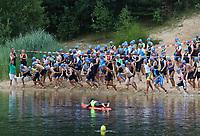 Start des 11. MoeWathlon in der Badestelle Walldorf - Mörfelden-Walldorf 21.07.2019: 11. MoeWathlon