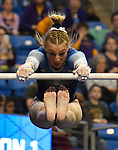 The SEC National Gymnastic Championship was held on Saturday March 24 at Chaifetz Arena on the Saint Louis University campus. Alex McMurtry of Florida on the uneven bars.<br />