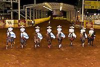 A charreada (Mexican rodeo) at the Lienzo Charro Zermeno, Guadalajara, Jalisco, Mexico