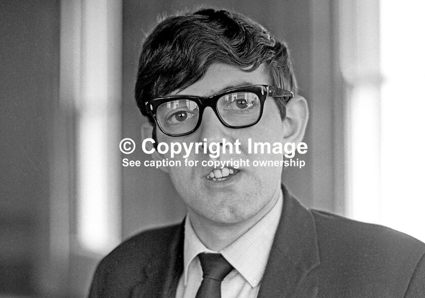 John Murphy, candidate, NDP, National Democratic Party, St Annes, Belfast, N Ireland General Election, 24th February 1969. 196902000037<br />