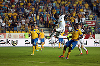 Thursday 29 August 2013<br /> Pictured: Roland Lamah of Swansea (C) scoring the first equaliser making the score 1-1<br /> Re: Petrolul Ploiesti v Swansea City FC UEFA Europa League, play off round, 2nd leg, Ploiesti, Romania.