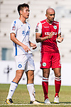 Zeshan Rehman of Kwoon Chung Southern (R) gestures during the week three Premier League match between Kwoon Chung Southern and R&F at Aberdeen Sports Ground on September 16, 2017 in Hong Kong, China. Photo by Marcio Rodrigo Machado / Power Sport Images